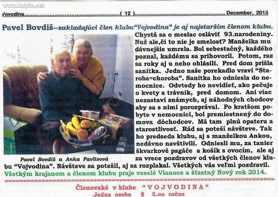 IN MEMORIAM – Pavel Bovdiš